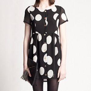Minkpink Polka Dot Babydoll Mini Dress